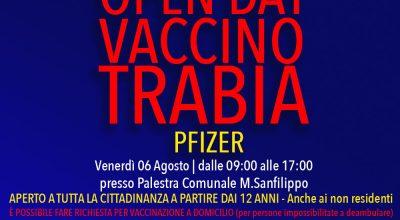 Open Day Vaccinazioni Trabia 06 Agosto 2021 – II edizione